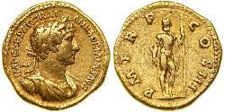 1 Áureo Imperio romano (27BC-395) Oro Adriano  (76 - 138)