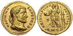 1 Áureo Imperio romano (27BC-395) Oro Maximino II (270 - 313)