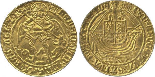 1 Ангел Королівство Англія (927-1649,1660-1707) Золото Генріх VIII (1491 - 1547)