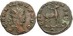 1 Антониниан Римская империя (27BC-395) Бронза Галлиен (218-268)