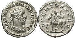 1 Антониниан Римская империя (27BC-395) Серебро Филипп Араб(204-249)
