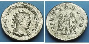 1 Антониниан Римская империя (27BC-395) Серебро Валериан I (193-260) / Галлиен (218-268)