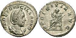 1 Антонініан Римська імперія (27BC-395) Срібло Herennia Etruscilla (249-251)