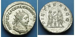 1 Антонініан Римська імперія (27BC-395) Срібло Валеріан I (193-260) / Галліен (218-268)