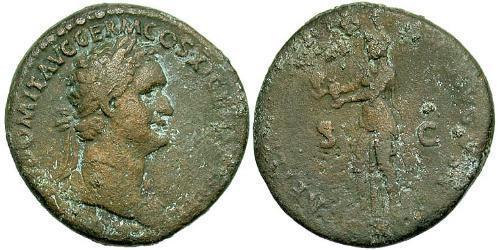 1 Асс Римская империя (27BC-395) Орихалк Домициан (51-96)
