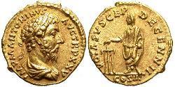 1 Ауреус Римська імперія (27BC-395) Золото Марк Аврелій (121-180)