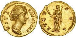 1 Ауреус Римська імперія (27BC-395) Золото Фаустина II (130-175)