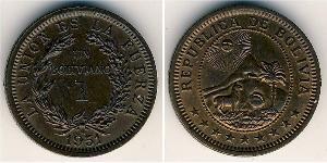 1 Боливар Многонациональное Государство Боливия (1825 - ) Бронза