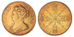 1 Гинея Королевство Англия (927-1649,1660-1707) Золото Анна (королева Великобритании)(1665-1714)