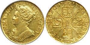 1 Гинея Королевство Великобритания (1707-1801) Золото Анна (королева Великобритании)(1665-1714)
