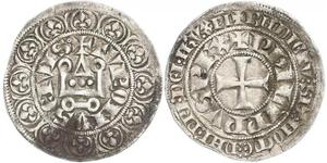 1 Гроут Франция Серебро Филипп IV король Франции (1268 -1314)