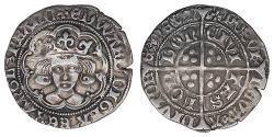 1 Гроут Королівство Англія (927-1649,1660-1707) Срібло Едвард IV (1442-1483)