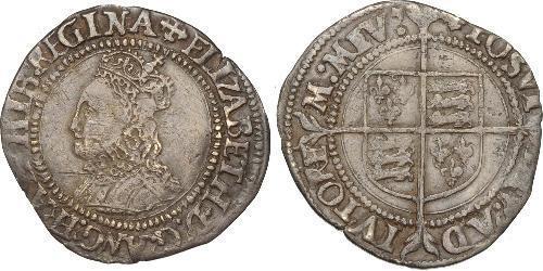 1 Гроут Королівство Англія (927-1649,1660-1707) Срібло Єлизавета I (1533-1603)