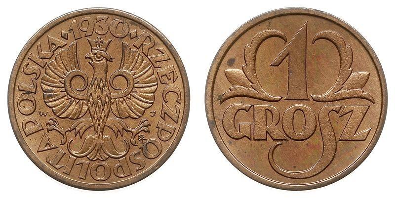 1 грош 1935 монету кинули 100 раз