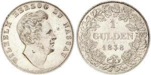 1 Гульден Германия Серебро