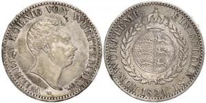 1 Гульден Королевство Вюртемберг (1806-1918) Серебро Вильгельм I (король Вюртемберга)