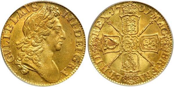 1 Гінея Королівство Англія (927-1649,1660-1707) Золото Вільгельм III (1650-1702)