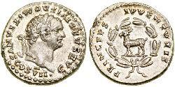 1 Денарий Римская империя (27BC-395) Серебро Домициан (51-96)