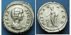 1 Денарий Римская империя (27BC-395) Серебро Юлия Домна (?-217)