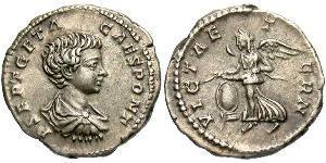 1 Денарий Римская империя (27BC-395) Серебро Гета (189-211)