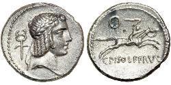 1 Денарий Римская республика (509BC-27BC) Серебро