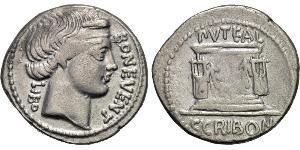 1 Денарій Римська республіка (509BC-27BC) Срібло