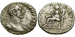1 Денарій Римська імперія (27BC-395) Срібло Адріан (76 - 138)