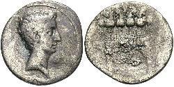 1 Денарій Римська імперія (27BC-395) Срібло Октавіан Август (63BC- 14)