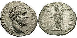 1 Денарій Римська імперія (27BC-395) Срібло Клодій Альбін (150-197)