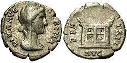 1 Денарій Римська імперія (27BC-395) Срібло Вібія Сабіна (83-137)