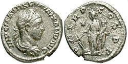 1 Денарій Римська імперія (27BC-395) Срібло Александр Север (208-235)