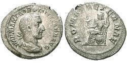 1 Денарій Римська імперія (27BC-395) Срібло Гордіан I Африкан (159-238)