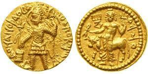 1 Динар Кушанское царство (60-375) Золото Vasudeva I