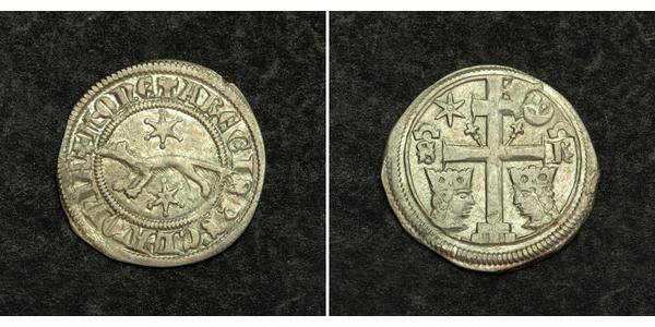 1 Динар Хорватия Серебро Бела IV (1206 - 1270)(1206 - 1270)