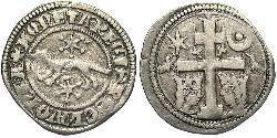 1 Динар Хорватія Срібло Бела IV (1206 - 1270)(1206 - 1270)