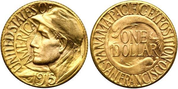 1 Долар США (1776 - ) Золото