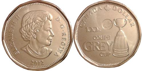1 Долар Канада Латунь Єлизавета II (1926-)