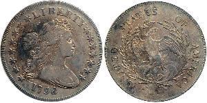 1 Долар США (1776 - ) Мідь/Срібло Anne Willing Bingham (1764-1801)