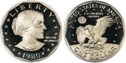 1 Долар США (1776 - ) Нікель/Мідь Susan Brownell Anthony (1820-1906)