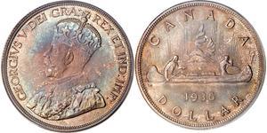1 Долар Канада Срібло Георг V (1865-1936)