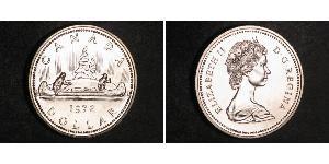 1 Долар Канада Срібло Єлизавета II (1926-)