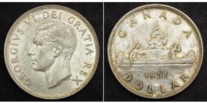 1 Долар Канада Срібло Георг VI (1895-1952)