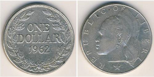 1 Долар Ліберія Срібло