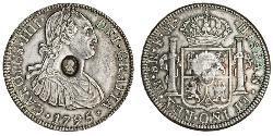 1 Долар / 8 Реал Сполучене королівство Великобританії та Ірландії (1801-1922) / Нова Іспанія (1519 - 1821) Срібло Карл IV король Іспанії  (1748-1819) / Георг III (1738-1820)