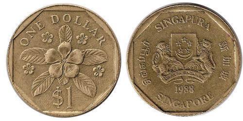 1 Доллар Сингапур / Индия Алюминий/Бронза