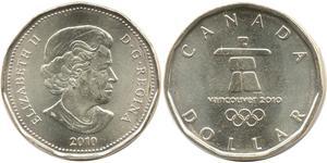 1 Доллар Канада Бронза Елизавета II (1926-)