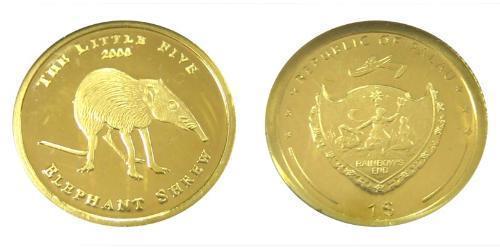 1 Доллар Палау Золото