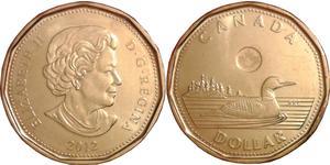 1 Доллар Канада Латунь Елизавета II (1926-)