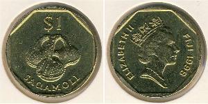 1 Доллар Фиджи Латунь Елизавета II (1926-)