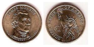 1 Доллар США (1776 - ) Никель/Медь Монро, Джеймс